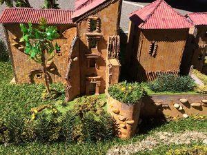 cours loisirs, création de la maquette du château de Magrin