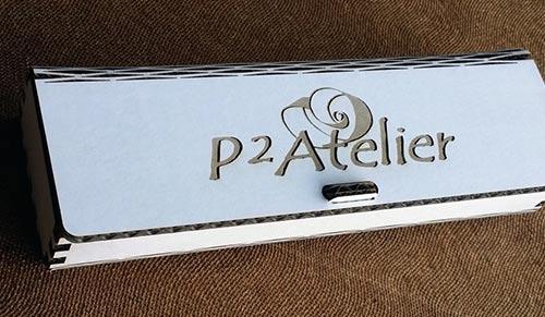 Boîte à stylo en carton personnalisée par gravure laser