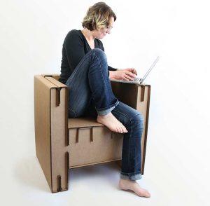 fauteuil en carton personnalisable, gamme O2G