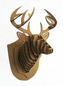 Marcel, trophée cerf couleur kraft