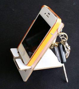 Porte téléphone carton blanc