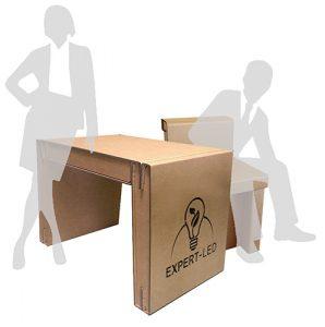 Bureau en carton personnalisé