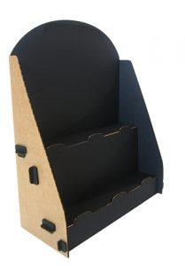 Porte flyer carton noir et kraft