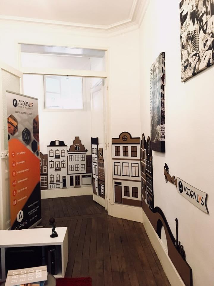 Décoration murale sur mesure Amsterdam