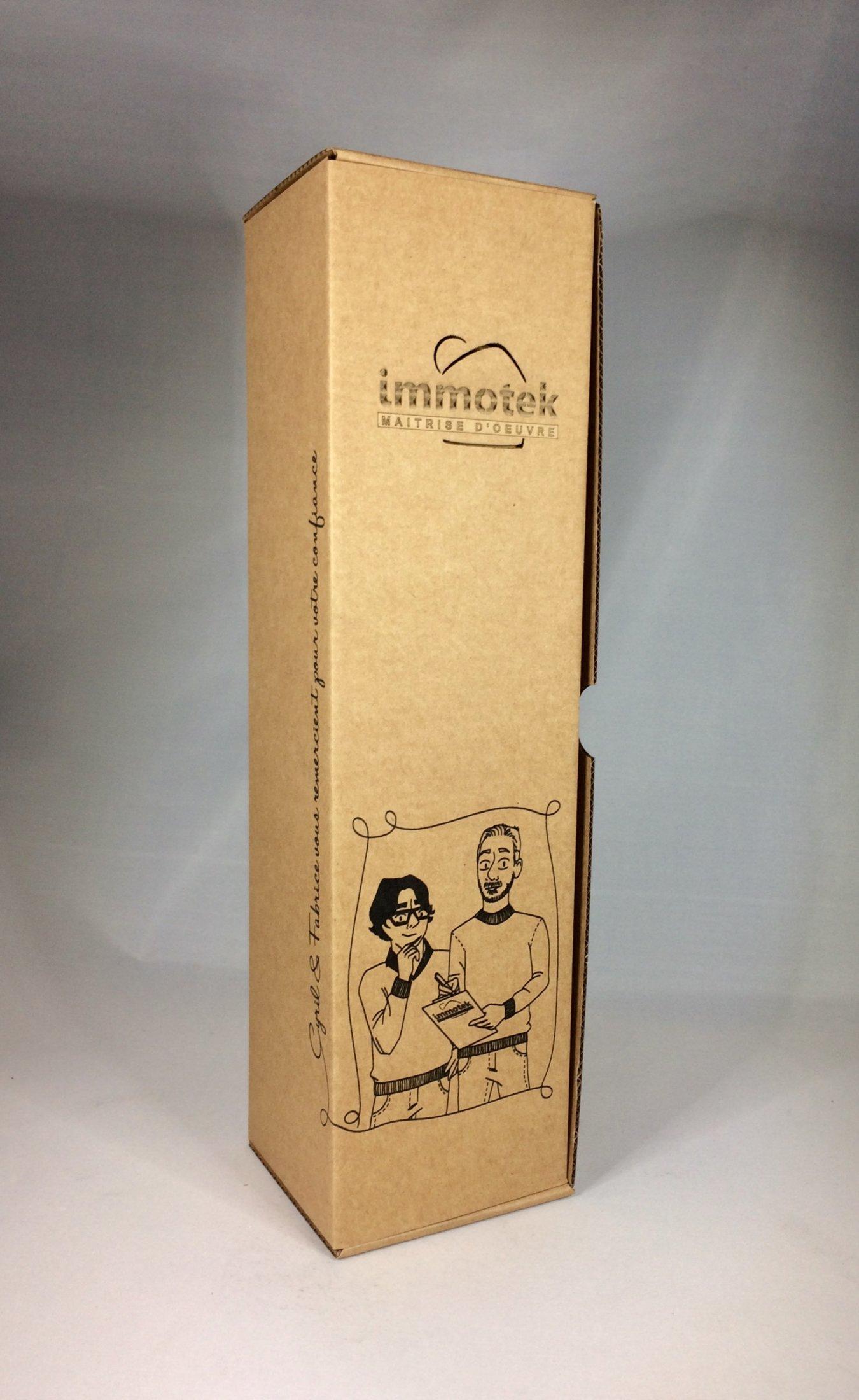 Coffret bouteille personnalisé Immotek