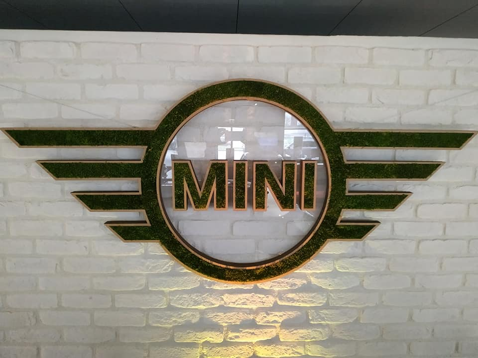 Logo MINI BMW mousse