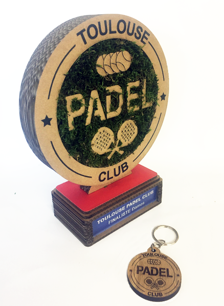 Trophée en carton - Padel Toulouse