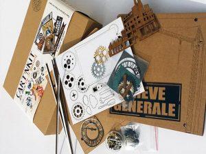"""""""Grève générale"""", kit créatif de fabrication de cadre photo, thème indus"""