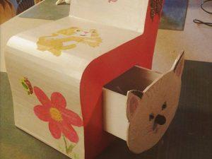 Atelier loisir, création chaise enfant chat