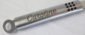gravure laser sur métal personnalisée