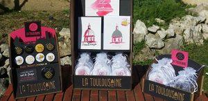 """Présentoirs à produits """"la Toulousaine"""""""