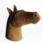 Georges, statuette cheval en carton kraft
