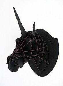 Albertine, trophée licorne noir