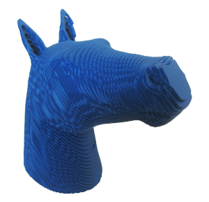 cheval POP bleu