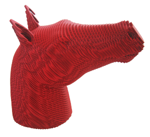 cheval POP rouge