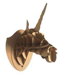 trophée licorne carton kraft