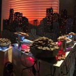 décor skyline New-York avec éclairage