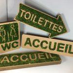Panneau de signalisation carton et mousse végétale