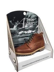 Présentoir chaussure en carton
